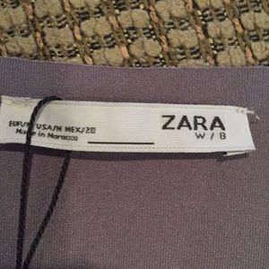 Zara Tops - Zara faux suede top with fur trim sleeves